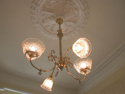 12-Period Light Fixture with Ceiling Medallion